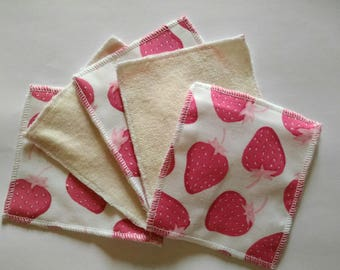 set of 10 wipes washable baby or cleansing