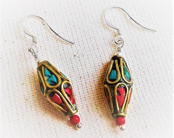 Ethnic earrings Himalaya the Tibet