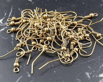 supports 50 antique bronze earring hook