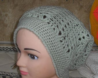 green water crochet Hat