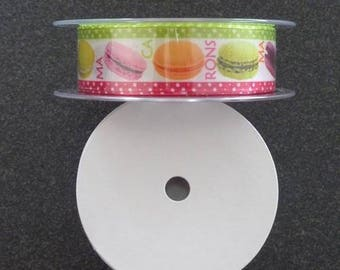 Ribbon satin - pastry Theme - gourmet 25 mm * 20 M - for sale by the yard