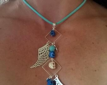 Set necklace + earrings
