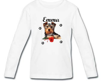 T-shirt sleeves Yorkshire girl personalized with name