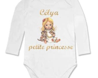 Personalized with name little Princess baby Bodysuit