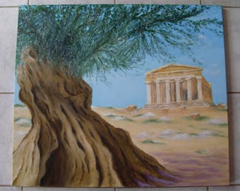 Temple of harmony in the Valley of Agrigento, Sicily
