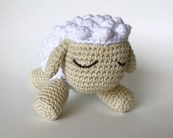 Sheep crocheted handmade, 100% cotton, sheep, toy, plush toy is hand