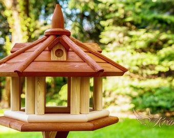 Exlusive  Wooden Bird Table