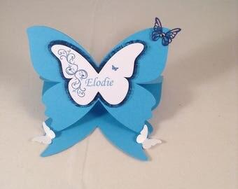 brand blue spot on the theme of butterflies