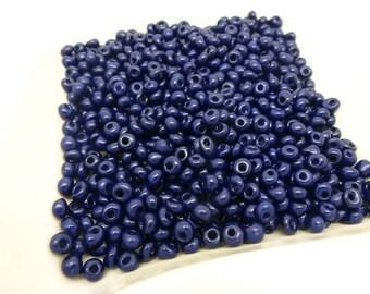 20 g dark blue seed beads 4 mm 6/0 (8SPV30)
