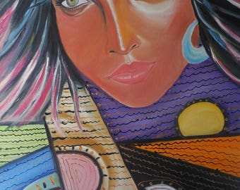 Ethical woman painting