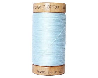Sewing thread 100% cotton sky blue organic - 100 meters - certified eco-friendly