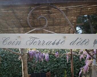 "Decorative wooden sign ""corner summer terrace"""