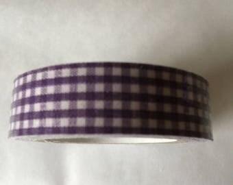 Purple GINGHAM masking tape