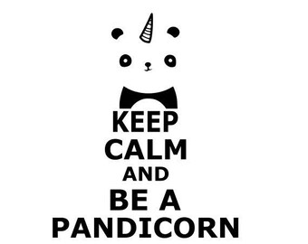 """Keep calm and be a pandicorn"" stickers"