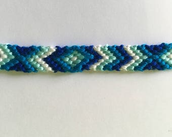 Blue and white Friendship Bracelet