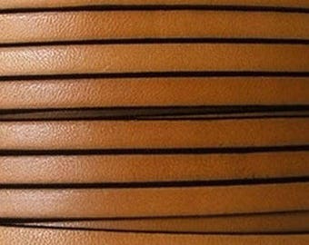 20 cm Strip Fawn leather 5 mm wide