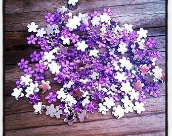250 flower 3mm violet rhinestone paste