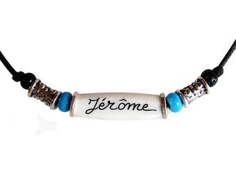 Personalized necklace, Indian style with the name of your choice
