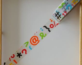 "Masking tape - pattern ""INITIALS punctuation"" - 1.5 cm x 10 m"