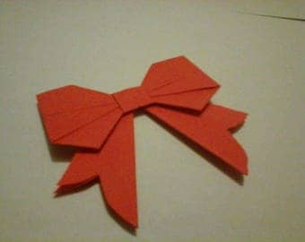 Christmas set of 10 small bow Christmas decoration