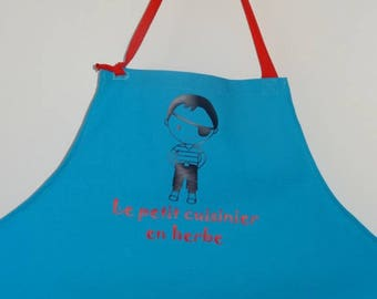 "Apron for children ""the little Cook in grass"""