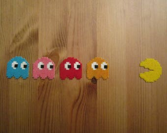 Pixel Art/beading - {PAC - MAN} - Pacman and ghosts
