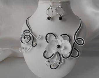 """""""ZARA"""" wedding set necklace & earrings"""