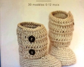 Catalog phildar book baby booties to crochet for baby