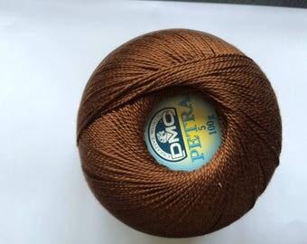 DMC Petra No. 5 - ball 100gr reference 5938 Brown