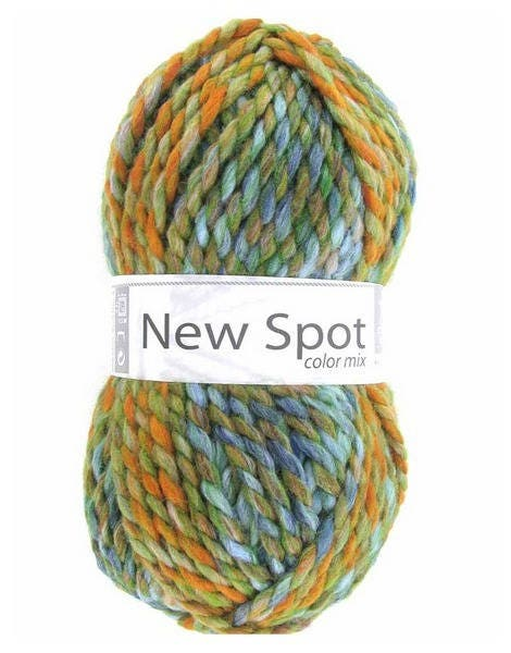grosse laine tricoter new spot coloris n410 vert orange de. Black Bedroom Furniture Sets. Home Design Ideas