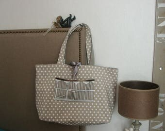 Shabby chic style tote bag
