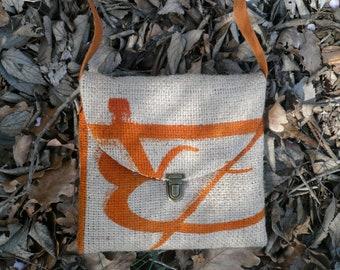 Bag shape bag burlap coffee bag / / shoulder bag / / shoulder bag / / Bohemian bag