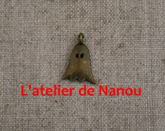 set of 2 charms ghost color antique bronze 20 * 12 mm