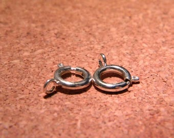 4 clasps buoy 9 mm Silver - Spring clasps - D06 spring ring