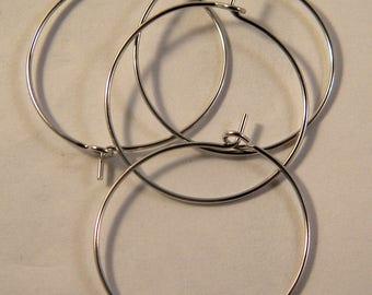 4 rings holders / Platinum hoop 25 mm