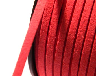 Red 3 mm X 1.5 mm - SU105 suede cord 3 M