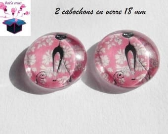 2 liberty cat themed 18mm domed glass cabochon
