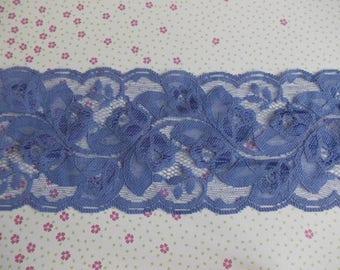 2 meter braid lace antique blue/purple 8 cm in width