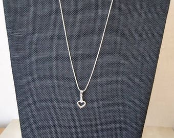 Sterling Silver 925 with heart pendant necklace