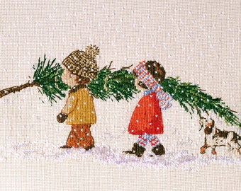 Christmas tree cross stitch pattern Christmas pdf pattern Christmas cross stitch pattern Children cross stitch pattern Children pdf