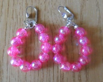 Little girl, pink Teardrop Earrings