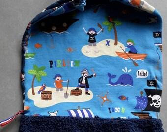 Elastic towel canteen Pirates /Ninjas, customizable.