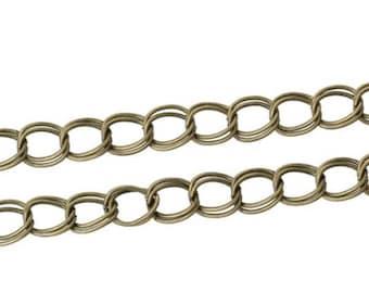 double fancy bronze mesh chain 50 cm