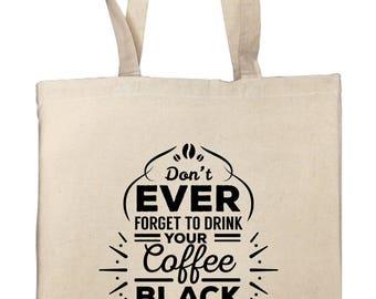 "Tote bag ""black coffee"""