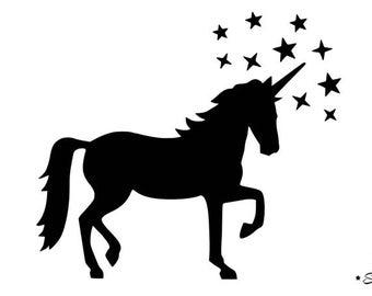 Unicorn stars flex fusible applique