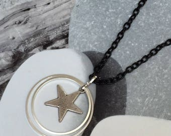 Necklace duo rings and Star