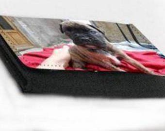 Smooth wallet imitation leather look to be personalized with your photos