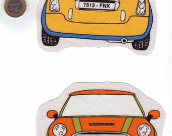 Appliqués: Will go with our colorful mini...  Image sewing car