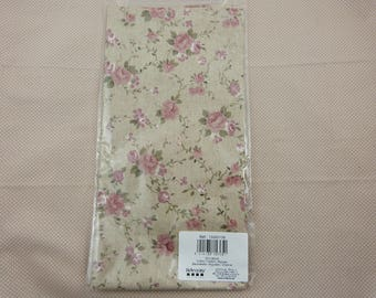 Cotton printed pink flowers
