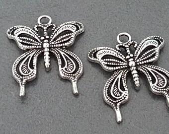 Butterfly pendant charm 22 mm x 5 Butterfly pendant, butterfly jewelry
